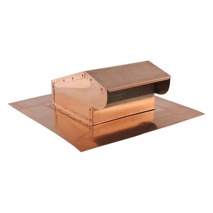 roll out ridge vent bath fan kitchen exhaust roof vent copper famco