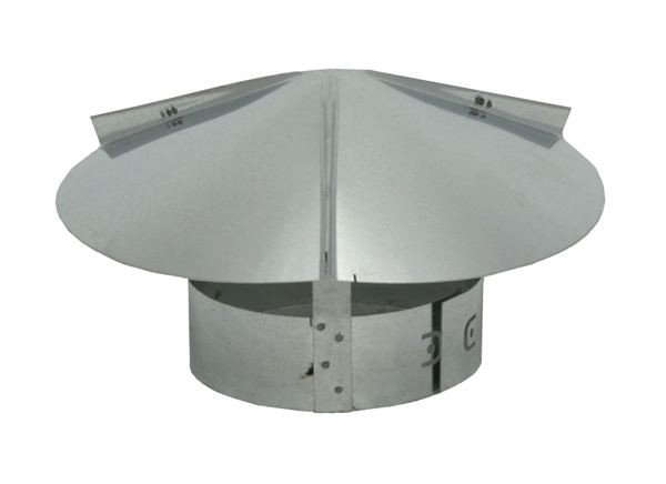Cone Top Chimney Cap with Screen – Galvanized