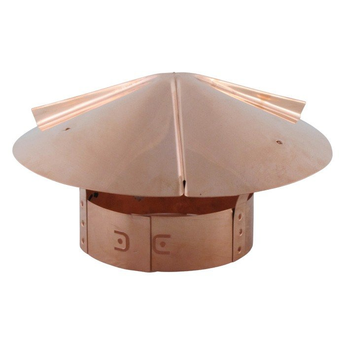 Cone Top Chimney Cap with Screen - Copper