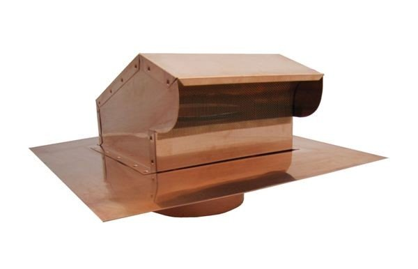 Bath Fan / Kitchen Exhaust - Roof Vent with Extension - Copper