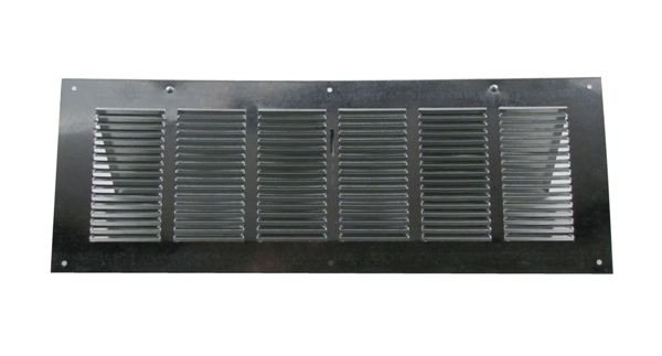 Louvered Foundation Vent with Damper - Galvanized