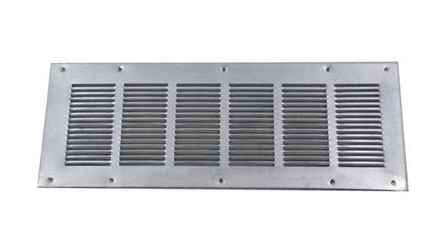 Louvered Foundation Vent with Screen - Galvanized