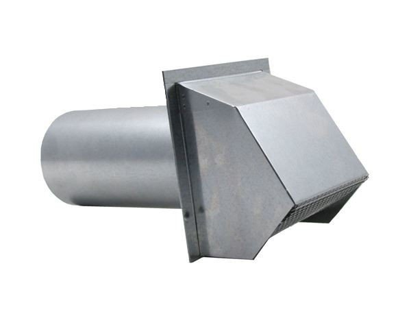 Hooded Wall Vent with Spring Loaded Damper, Gasket and Screen - Aluminum