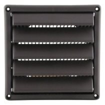 Plastic Wall Vent with Fixed Louvers
