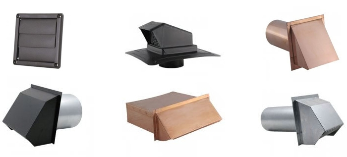 Wall Vents - Plastic, Hooded, Metal, Heavy Duty