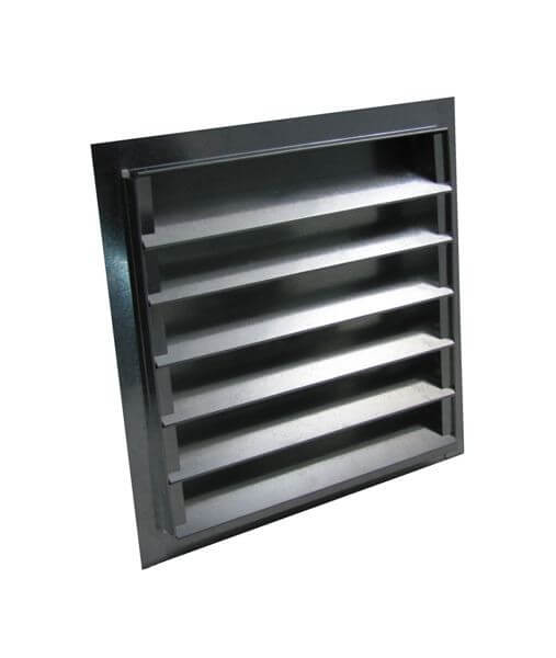 Louvered Gable Vent - Galvanized-0