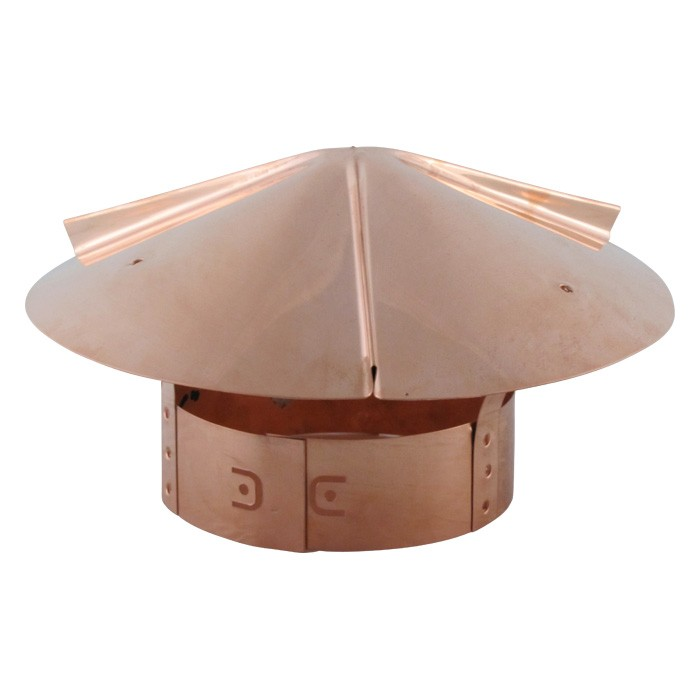 Cone Top Chimney Cap - Copper-0