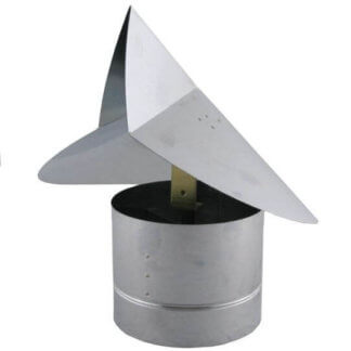 Wind Directional Chimney Cap - Stainless Steel -0