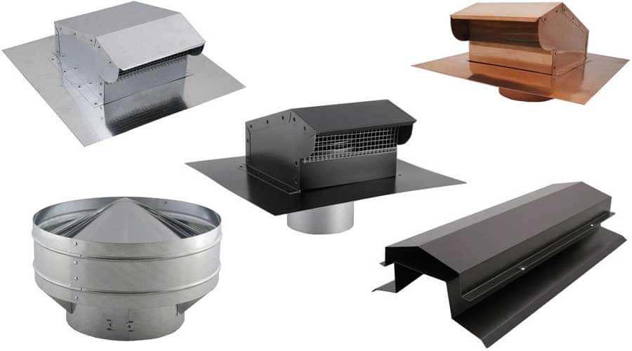 Roof Vent Bases, Attic Ventilation, Piped Exhaust Vent, Commercial Vents